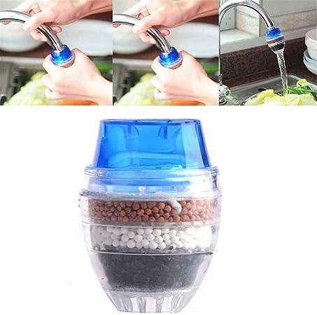 ounona Mini Filtro de Agua de Grifo purificador de Agua de Grifo Adecuado para grifos Redondos de 1,6-1,9 cm de diámetro(Color al Azar): Amazon.es: Hogar