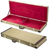 Szfmmy® GOLD Guitare électrique Housse de protection Flight étui rigide pour guitare verrouillable Sac de transport