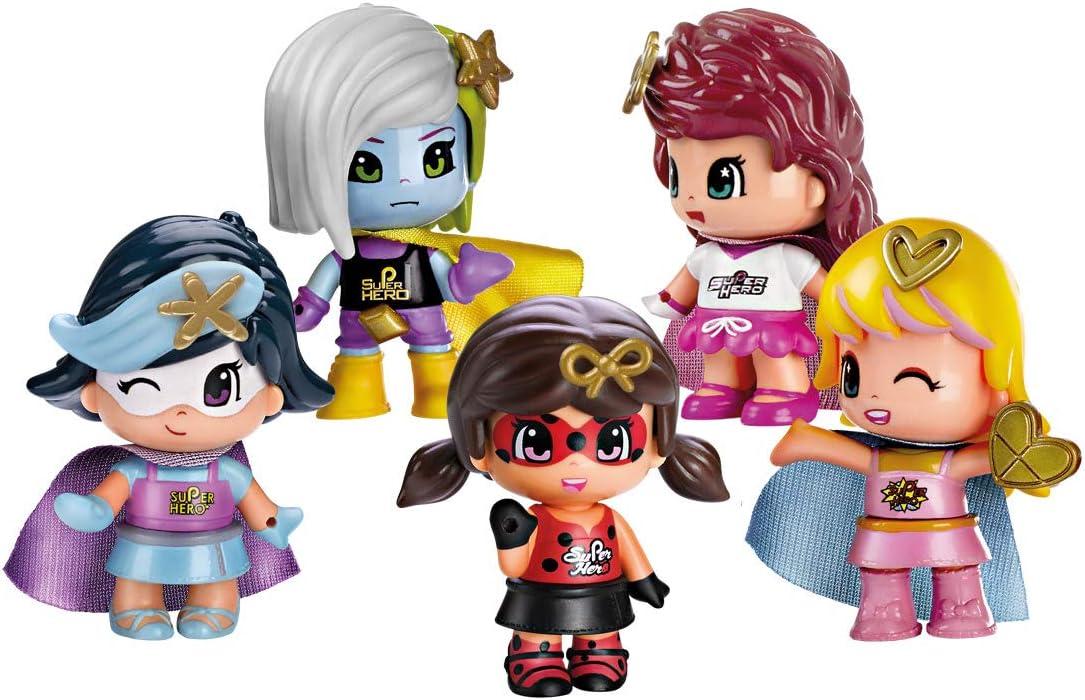 Pinypon - Pack 5 Superheroínas: Amazon.es: Juguetes y juegos