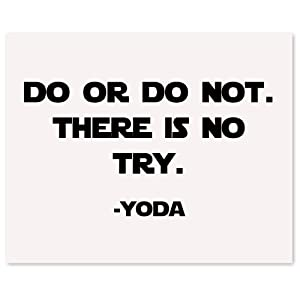 Vintage Star Wars Yoda, Do or Do Not, Quote Poster Prints, Set of 1 (11x14) Unframed Picture, Great Wall Art Decor Gifts Under 15 for Home, Office, Man Cave, Student, Teacher, Comic-Con & Movies Fan