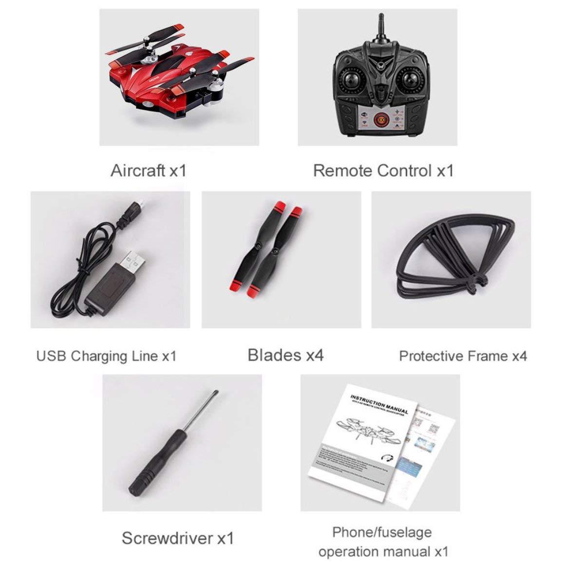 Funnyrunstore S13 4 Channel 6 Ejes de Control Remoto de Larga Duración Quadcopter Drone UAV Sistema de Posicionamiento Fight Aircraft (Rojo)