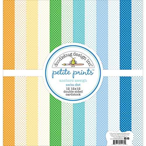 DOODLEBUG Petite Prints Double-Sided Cardstock (12 Pack) by DOODLEBUG