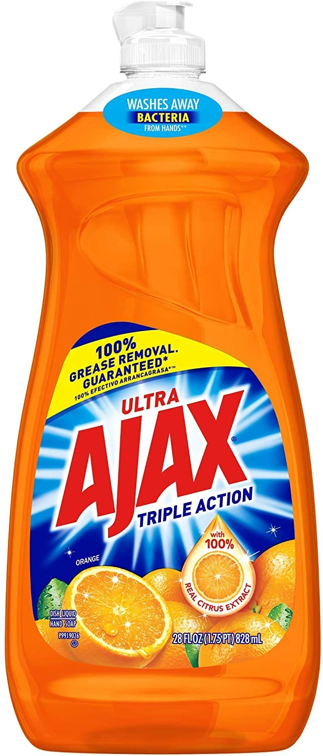 Ajax Triple Action Dish Liquid - Orange, 28 Fluid Ounces (2)