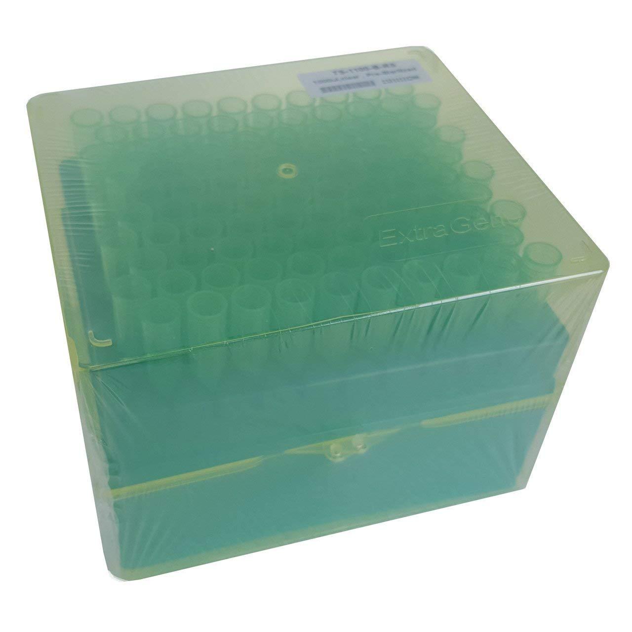Extragene universal pipette tips 1000 ul, sterile DNase/RNase  autoclavable, racked 96 tips/rack, pk x 10 racks (960 tips)