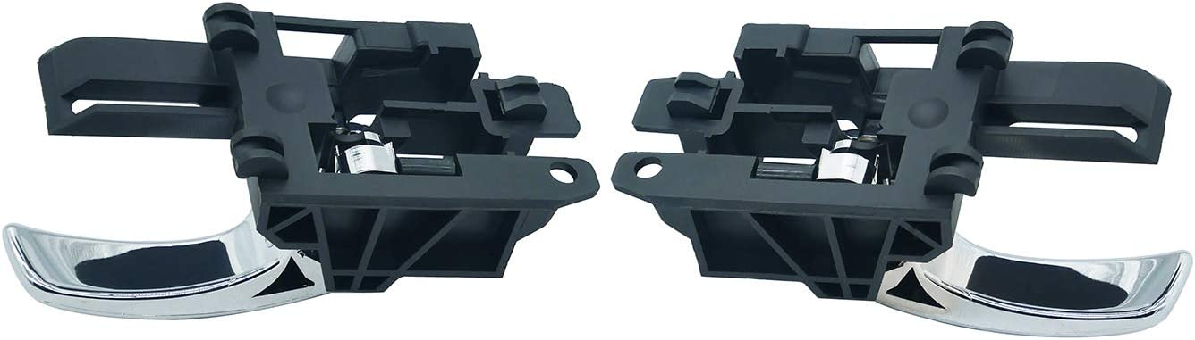 Confezione da 2 ZEALfix 80671-JD00E Maniglia per Porta Interna Sinistra e Destra Interna cromata per Qashqai