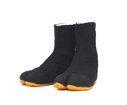 Rikio Childs Ninja Shoes, Tabi Boots, Jikatabi, Tabi/Travel Bag (JP 21.5 Approx US 2.5 EU 32) Black
