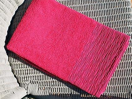 Soleil docre Toalla de baño algodon ANTIOCHE frambuesa 70x130 cm