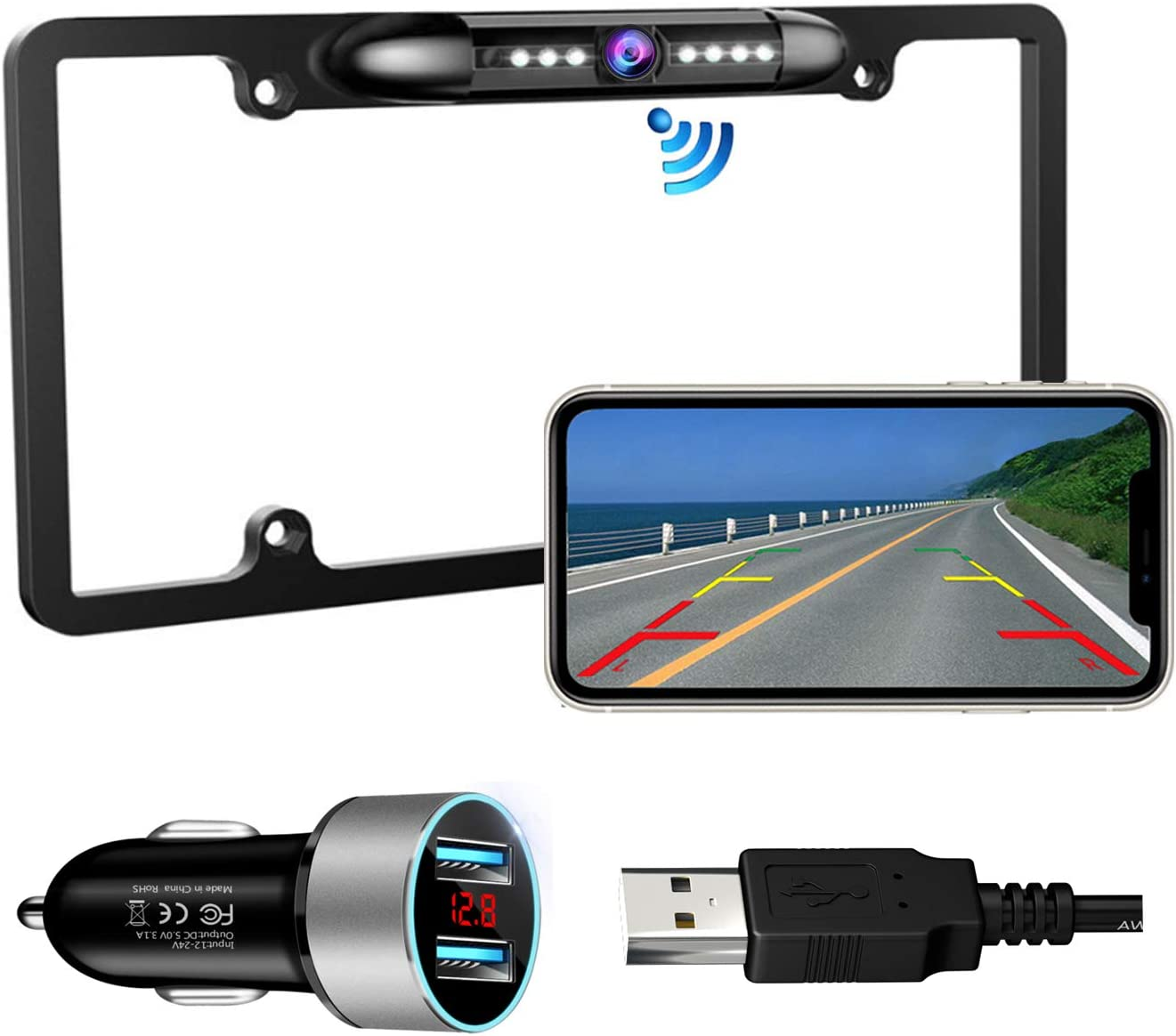 Ultra Strong Signal Smooth Video Image Never Freezing Clear Picture Suitable for Cars Trucks Trailers SUVs Casoda WiFi Wireless Backup Camera for iPhone and Android Easy to Install