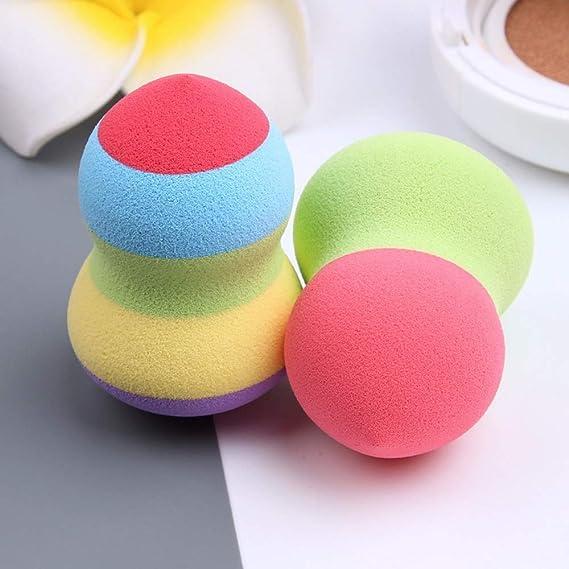 Pelucas y postizos Nueva Rainbow Beauty Gourd Ball Puff Costura ...