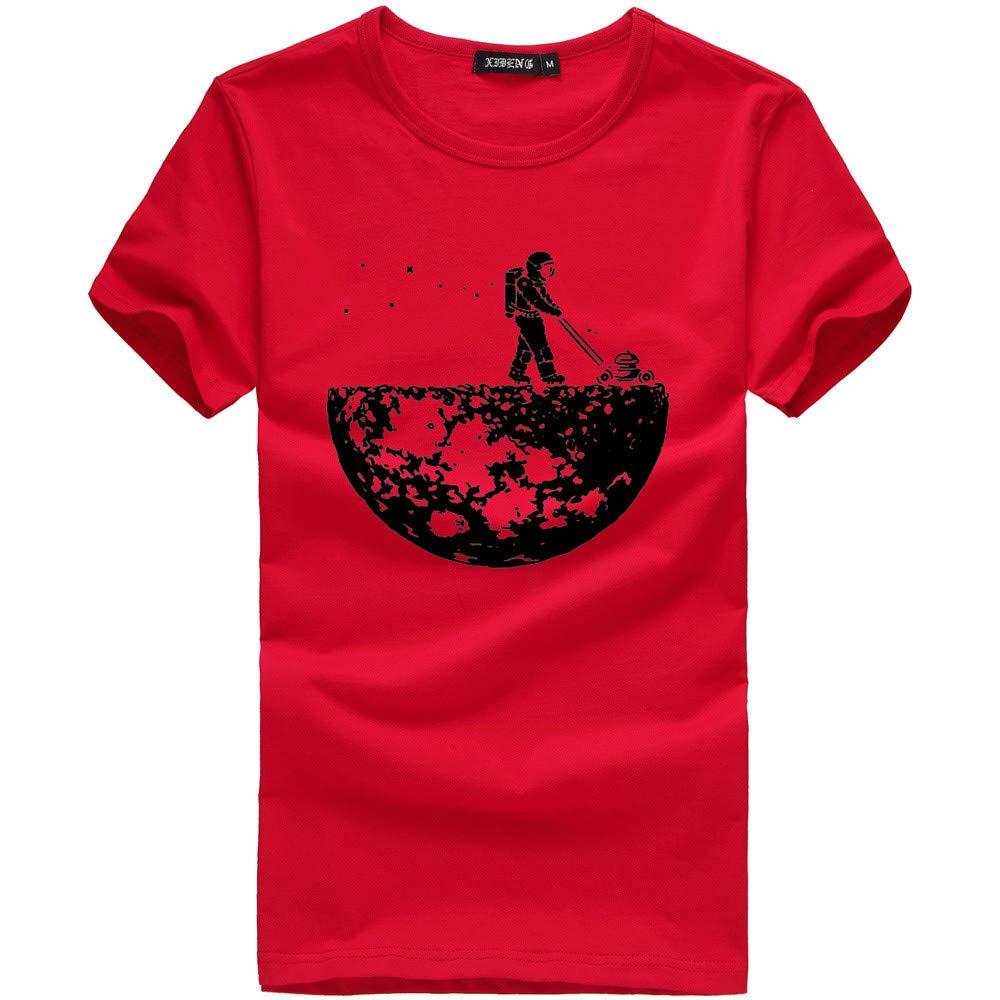Tee Shirts for Men Creative Short Sleeve Summer Graphic T-Shirt Under 5 Dollars