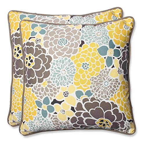 Pillow Perfect Outdoor Full Bloom Throw Pillow, 18.5-Inch, Set of 2 (Outdoor Target Rocking Chairs)