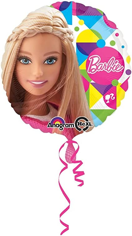 """18/"""" Inch Barbie Sparkle Happy Birthday Foil Helium Balloons Party Decoration"""