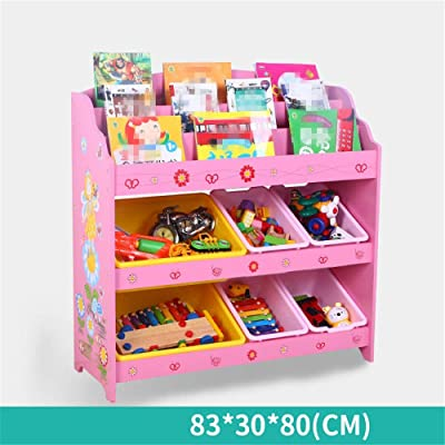 Caja de almacenamiento de juguetes Rack de almacenamiento de acabado for niños: for organizar el almacenamiento de juguetes Juguetes for bebés Juguetes for niños Juguetes for perros Ropa for bebés Lib: Hogar