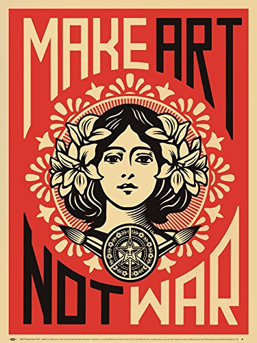 Make Art Not War by Shepard Fairey Art Print, 18 x 24 inches