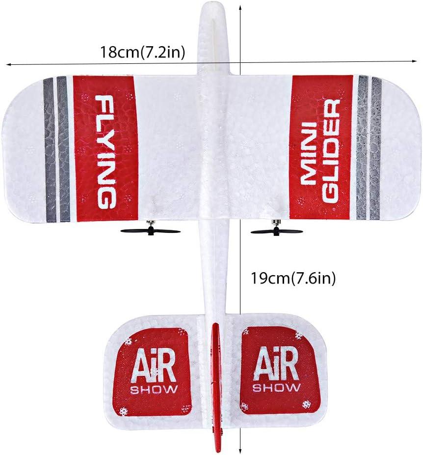 Three Battery Ktyssp KF606 2.4Ghz 2CH Mini Indoor RC Airplane Glider RTF