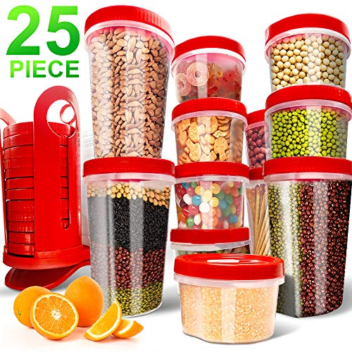 Fun Life 25-Piece Food Storage Containers BPA Free...