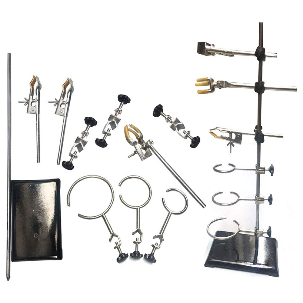 TABODD Laboratory Grade Metalware Set 60CM Laboratory Stands Support and Lab Clamp Flask Clamp Condenser Clamp Stands,Lab /& Scientific Supplies Glassware /& Labware