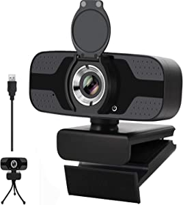 1080P Webcam with Microphone, 2020 Upgraded HD Desktop Laptop Computer USB Web Camera with Auto Light Correction, Plug and Play, for Windows Mac OS, Video Streaming, Conference, Gaming, Online Classes
