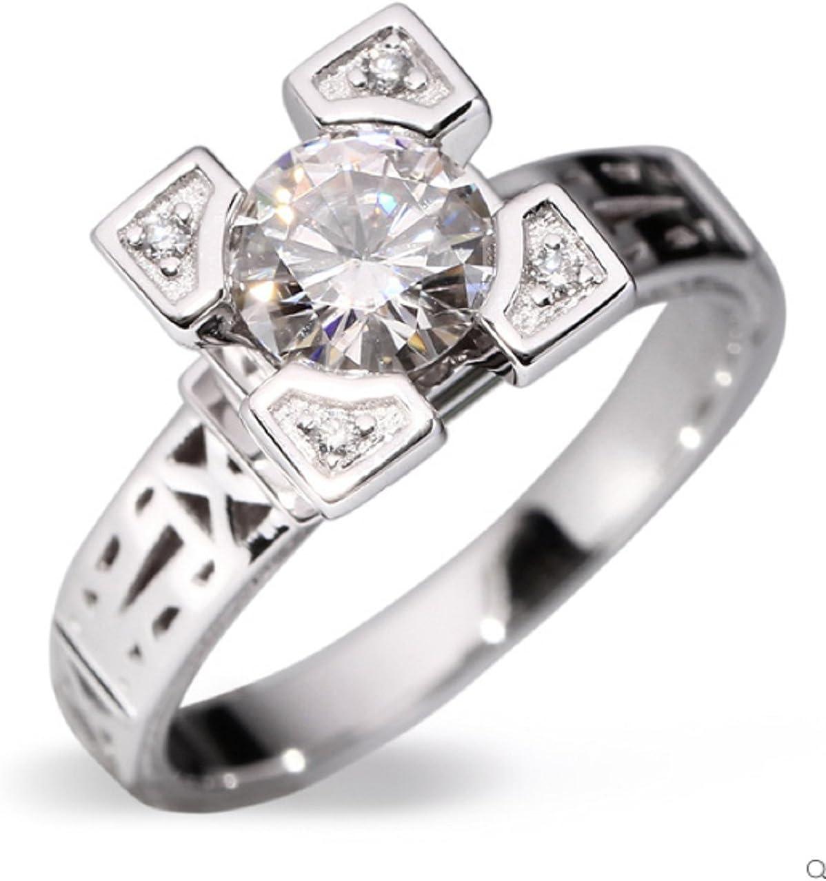 Gowe Engagement Ring 1 ct F Farbe VVS Klarheit Frauen Ringe