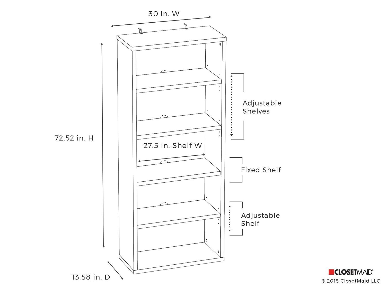 ClosetMaid 13508 Decorative 5-Shelf Unit, Black Walnut