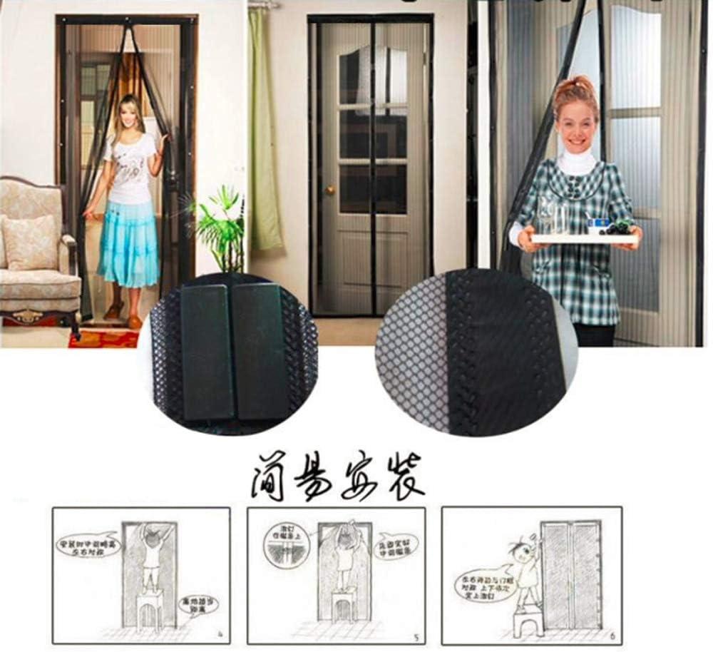 Moustiquaire aimant/ée d/élicate en maille magn/étique anti-moustiquaire pour porte de maison 80 x 210cm