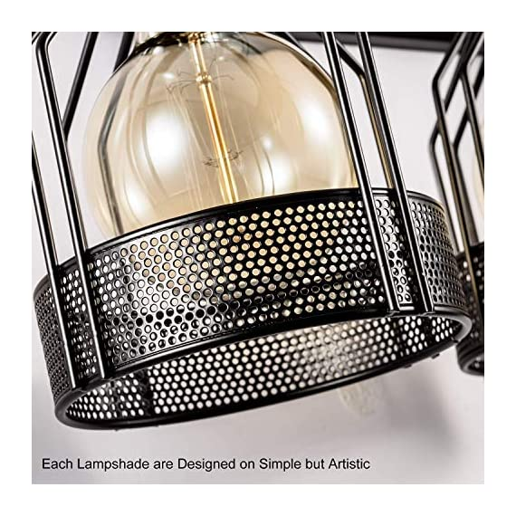 Industrial Vanity Lights Metal Wire Cage Bathroom Black Wall Sconces 3 Lights Plug in Cord with Switch Wall Lights Fixtures Edison for Indoor Dressing Table Mirror Cabinet (Bulb Not Included) - ✦ DESIGN: The modern industrial style vanity light with excellent craftsmanship leading you to a quality life. Concise and elegant design reflect your aiming on fashion. The stylish design can be used in vintage, urban, rustic, antique and industrial décor. ✦ QUALITY: More durable wire to reduce risks. High pressure casting iron enable the impact resistance and corrosion attack. Unrivalled skilled spray technology better reveal the integrity of the lamp. The cage type hollow out design is used for the intergral lamp body enable maximum lighting need. ✦ RECOMMENDED LIGHT SOURCE: Energy Saving Bulb, Incandescent Bulb, LED Bulbs. 110V-125V for USA (BULBS NEEDED TO PURCHASED SEPARATELY)The product is manufactured under the requirements of UL Listed - bathroom-lights, bathroom-fixtures-hardware, bathroom - 61wnWPMeuhL. SS570  -