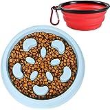 UPSKY Dog Bowl, Slow Feeder Small Dog Bowls Anti-Choking Bowl with Bright Macaroon Colors