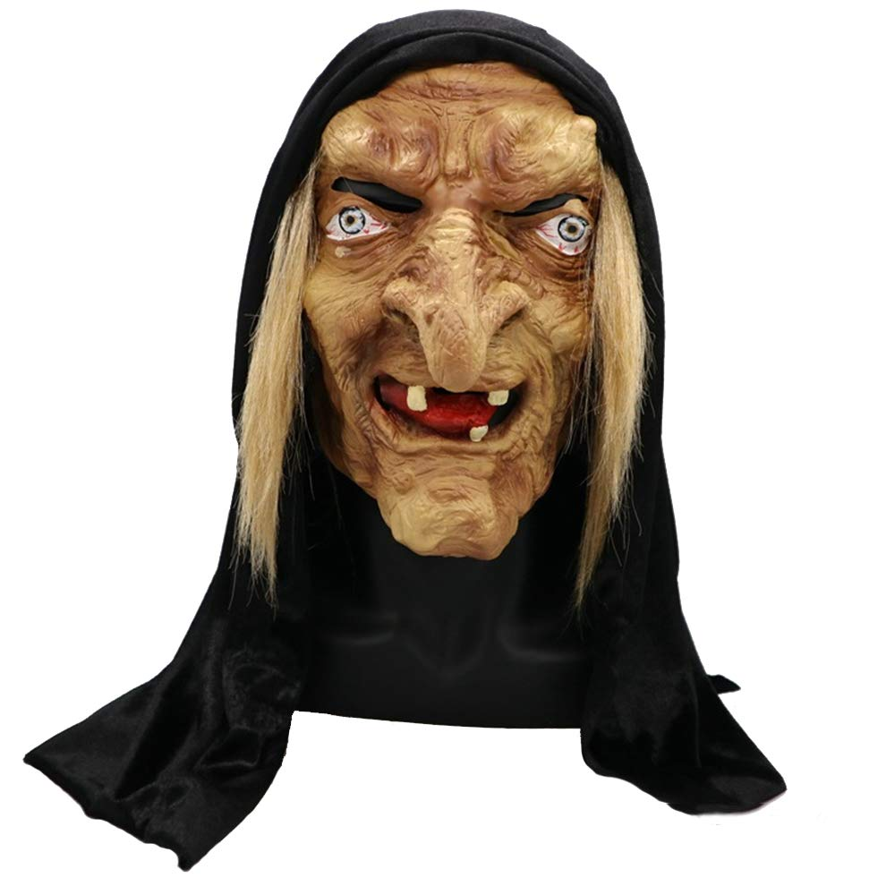 JTWJ Costume da Prestazione Femminile della Maschera della Suora della Maschera della Strega di Halloween Horror