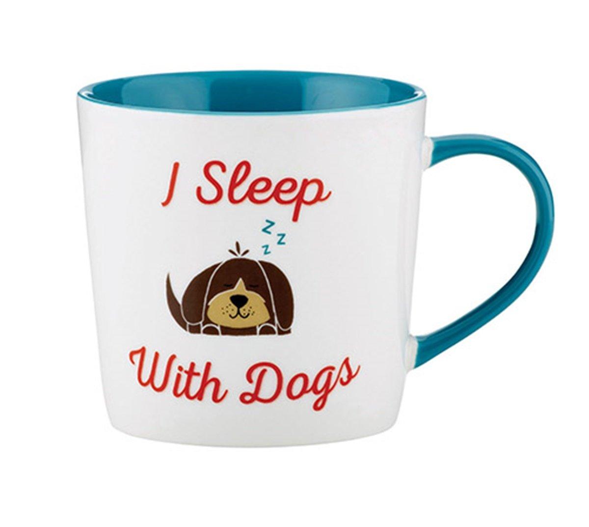 Animal Coffee Mug- I Sleep With Dogs,14oz