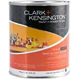 Clark Plus Kensington Acrylic Latex Semi-Gloss Paint and Primer in One, Ultra White, 0.9 Kg, 322849