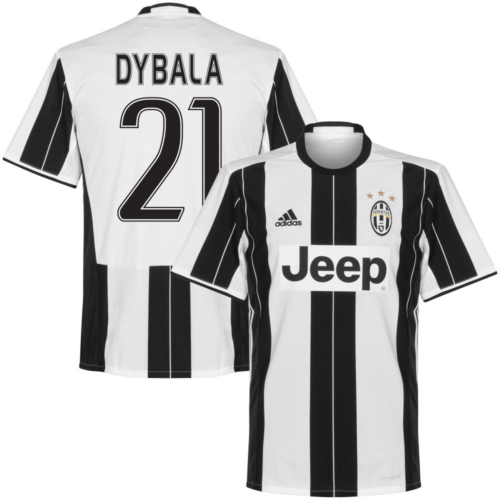 Amazon.com: adidas Juventus Home Dybala Jersey 2016/2017 (Fan ...
