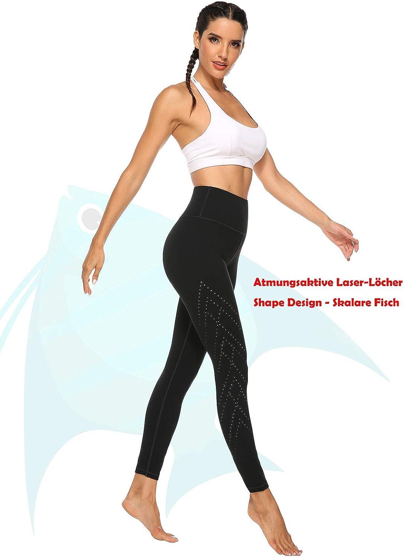 JOYSPELS Bauch Weg Leggings Blickdichte Damen Sporthose Sportleggins Yogahose