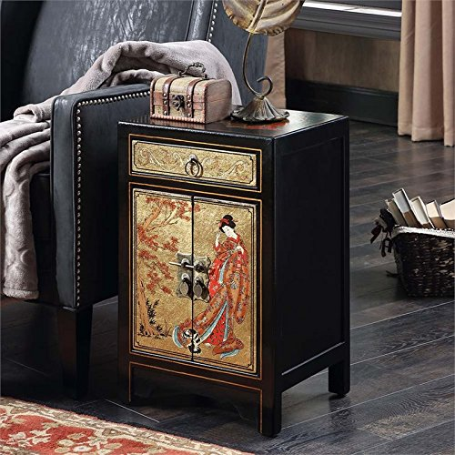 Convenience Concepts Touch of Asia 1-Drawer Cabinet End Tabl