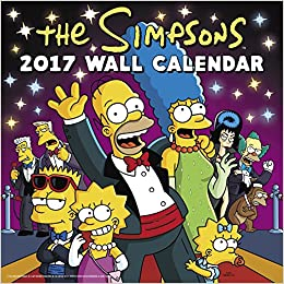 the simpsons wall calendar 2017 day dream 9781629057927 books. Black Bedroom Furniture Sets. Home Design Ideas