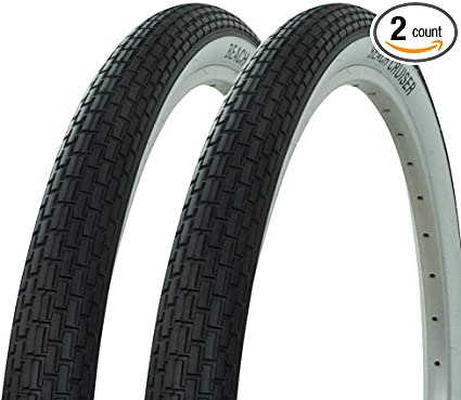 /& 2 TUBES 26x2.125 BEACH CRUISER BIKE LARGE BRICK TIRES SOLID COLOR 2 tires