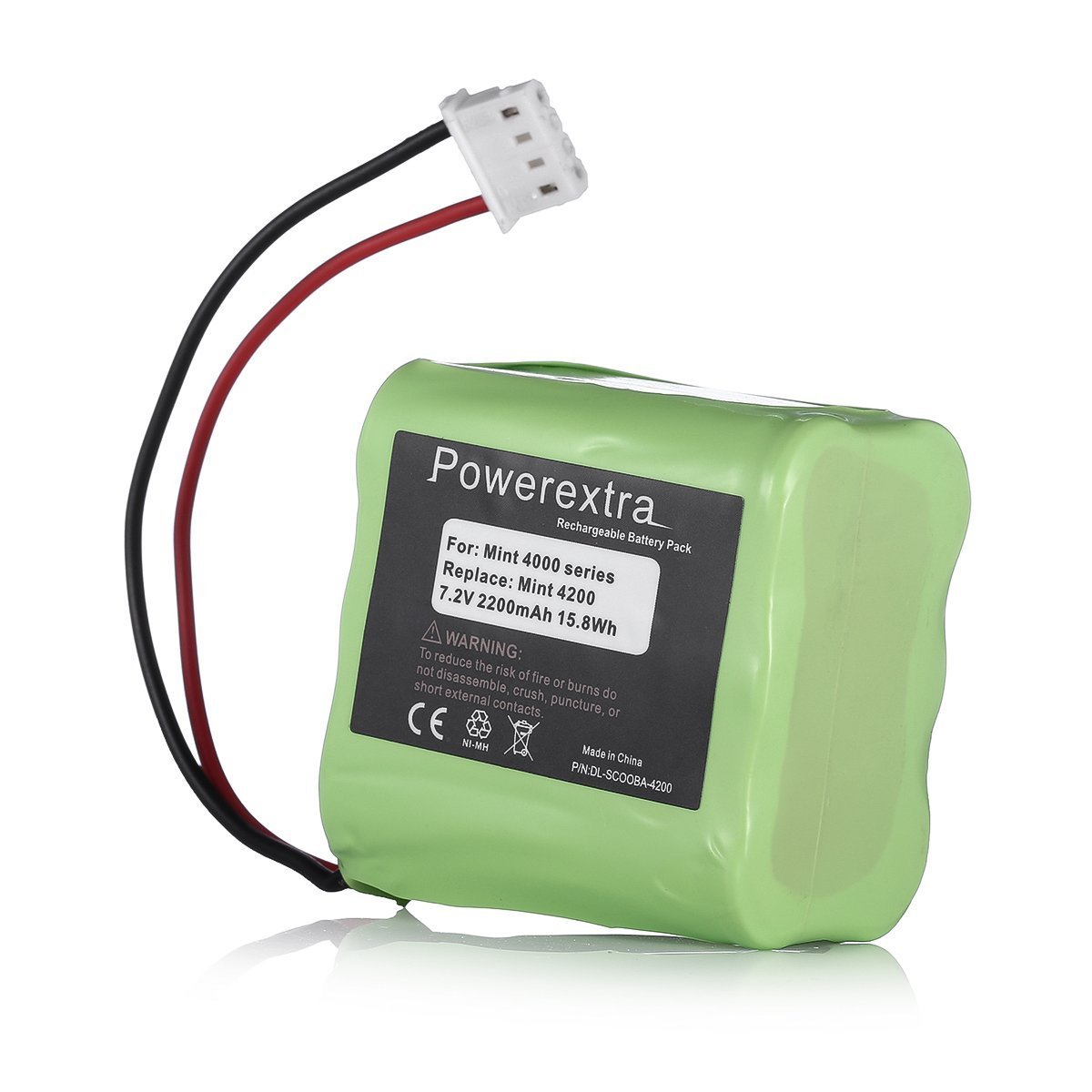Powerextra 7.2V 2200mAh Replacement Battery Compatible with iRobot Braava 320/321 & Mint 4200/4205