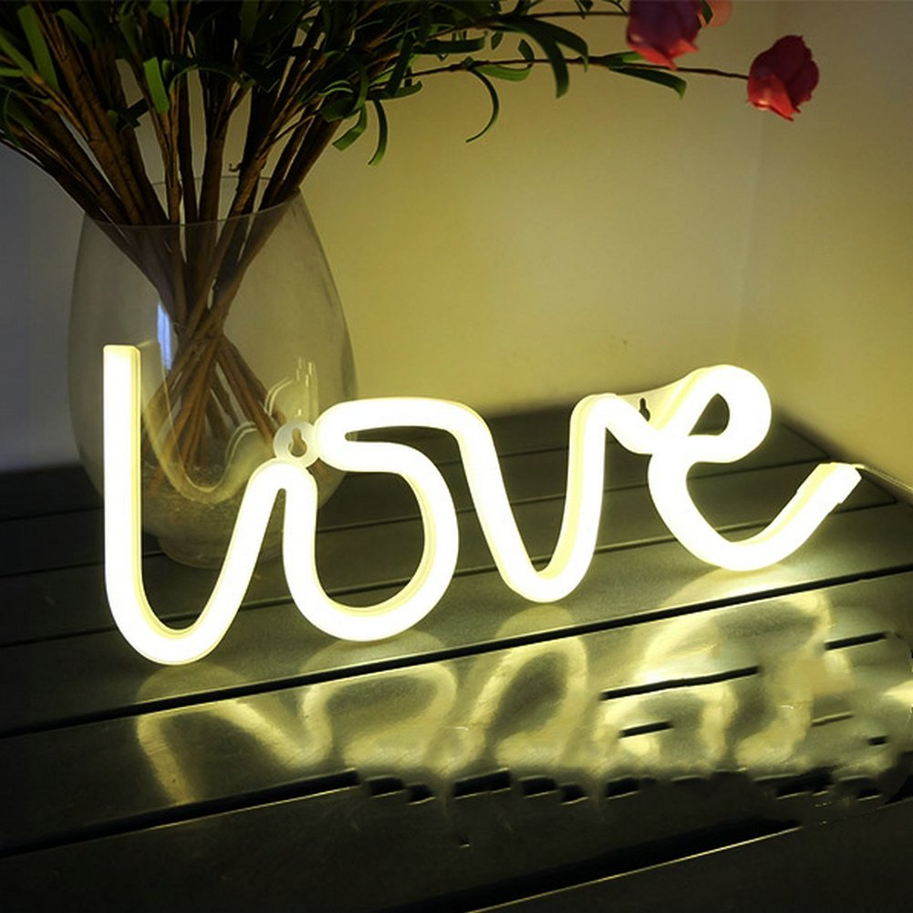 Amazon.com: Neon Love Signs Light LED Neon Art Decorative Lights ...