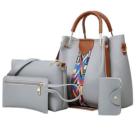 bcc878803782 Amazon.com: Women Handbag Top Handle Satchel Shoulder Tote Bag Purse ...