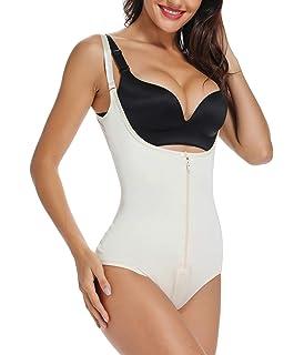 SHAPERX Damen Shapewear Body Shaper Figurformender Taillenformer Stark Formend Abdomen Gewichtsverlust Bodysuit