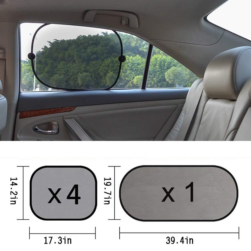 5 pezzi Parasole bambini accessori auto Parasole per auto per finestra laterale e posteriore OMzgxGOD