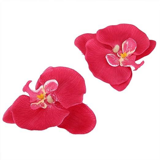 20x Flor Orquídea Artificial de Pelo Muñeca Decoración de Boda (fucsia)   Amazon.es  Deportes y aire libre c47128018039