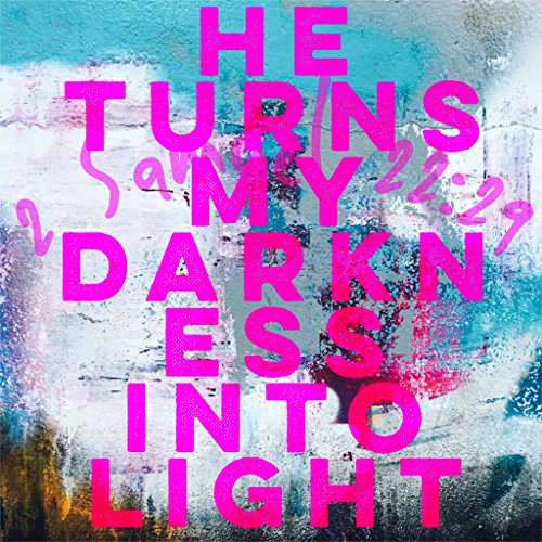 Christian 300 X 300 Print Quote Bible Verse HE Turns My Darkness INTO Light 2 Samuel 22:29 God Jesus Christ Wall Art Present Gift (My God Turns My Darkness Into Light)