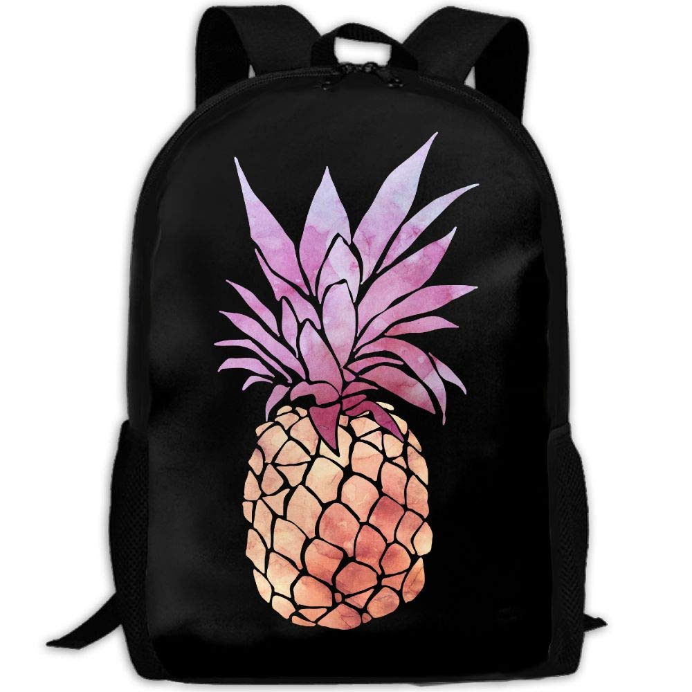 OIlXKV Tie-dye Pineapple Print Custom Casual School Bag Backpack Multipurpose Travel Daypack For Adult