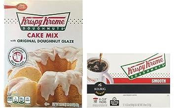 Amazoncom Krispy Kreme Doughnuts Cake Mix Coffe KCups Set