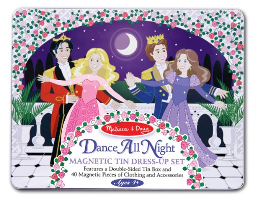 Melissa & Doug Dance All Night Magnetic Tin Dress-Up Set - 40 Magnets Store in Travel Case ()