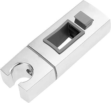 cromato staffa di supporto per morsetto scorrevole per soffione doccia di ricambio regolabile in ABS Supporto per soffione doccia 20-25MM