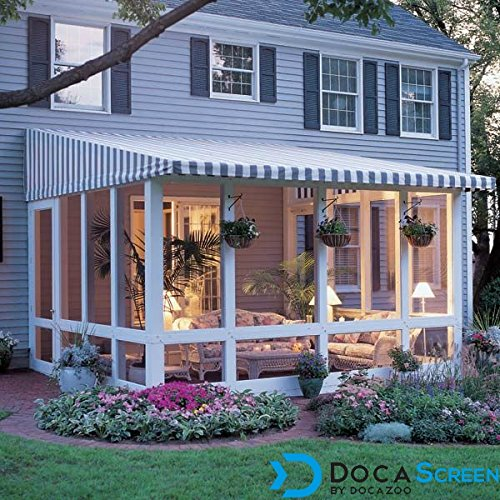 "DocaScreen Standard Window Screen Roll – 48"" x 100' Fiberglass Screen Roll – Window, Door and Patio Screen – Insect Screen//Fiberglass Screening//Screen Replacement//Window Screens by DOCAZOO (Image #2)"