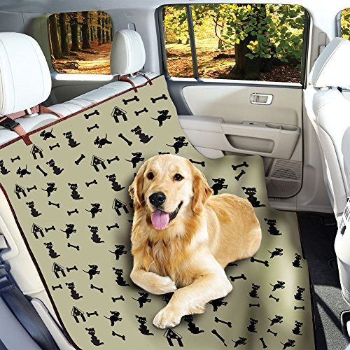 Waterproof Pet Seat Cover Dog Print – For Car Truck Bench Seats