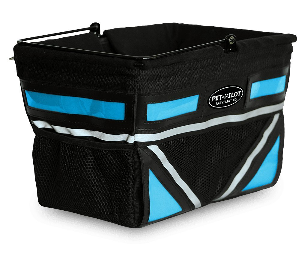 Travelin K9 2019 Pet-Pilot Original Dog Bike Basket Carrier | 10 Color Options for Your Bicycle (Neon Blue) by Travelin K9