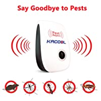 KACOOL Ultrasonic Pest Repellent, Elctronic Lizard Mice Rodent Control Device for Home, Safe and Non-Toxic